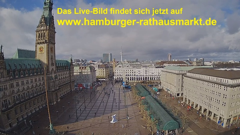 Webcam: Rathausplatz, Amburgo, Germania